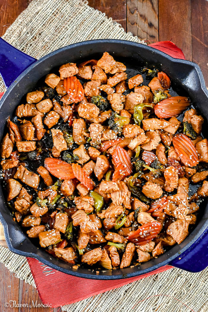 Turkey Stir Fry with Sesame Ginger Dressing
