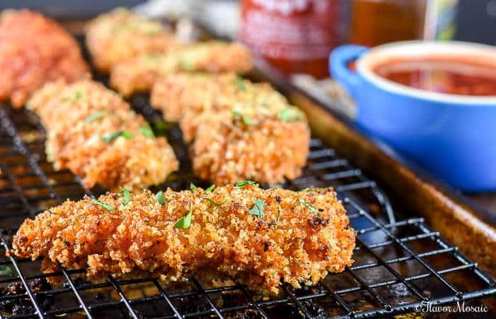 Baked Chicken Tenders with Honey Sriracha