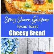 Spicy Bacon Jalapeno Texas Toast Cheesy Bread Image Long Pin
