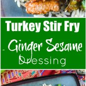 Turkey Stir Fry with Ginger Sesame Dressing