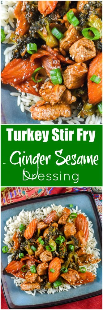 Turkey Stir Fry with Ginger Sesame Dressing