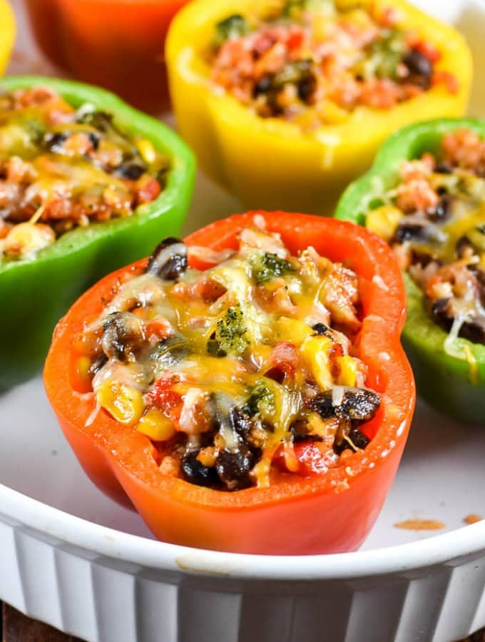 Vegetarian Mexican Stuffed Peppers