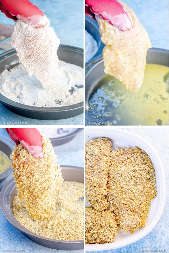 Best Classic Chicken Parmesan Step By Step Photos for Breading Chicken