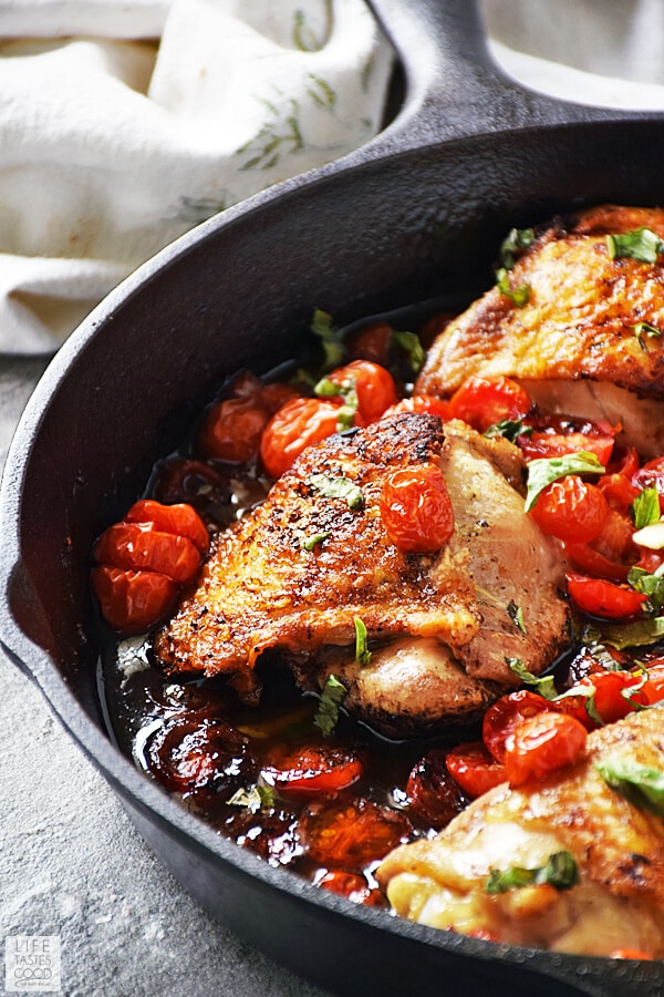 Easy Balsamic Chicken with Tomatoes
