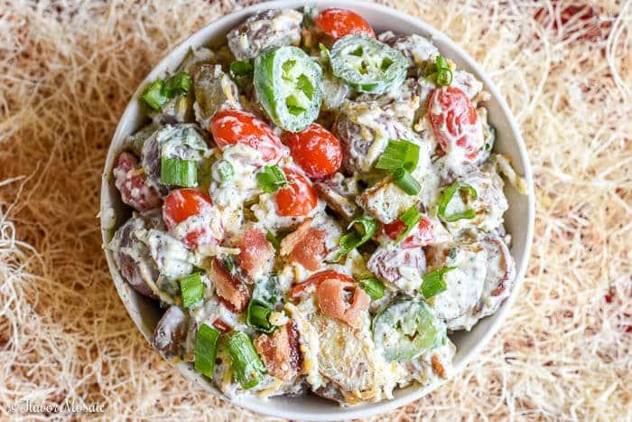 Bacon Ranch Potato Salad Texas Style