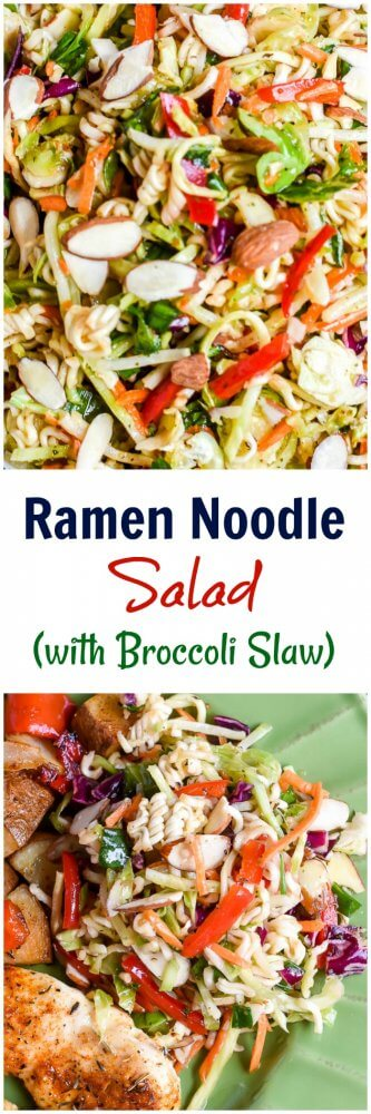 RameN Noodle Salad with Broccoli Slaw