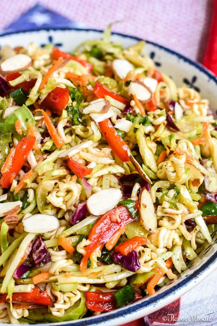 Ramen Noodle Salad (with Broccoli Slaw) - Flavor Mosaic