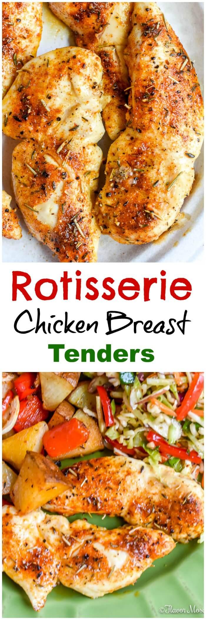 Rotisserie Chicken Breast Tenders Long Pin