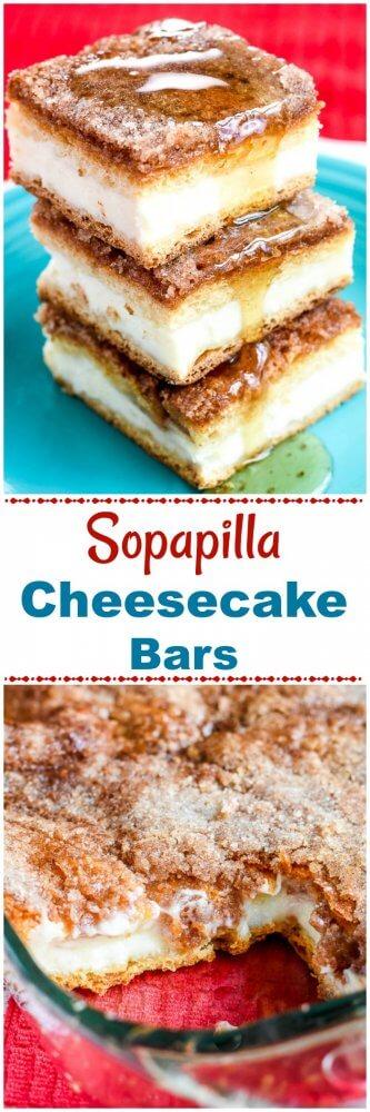 Sopapilla Cheesecake Bars Desserts