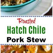 Roasted Hatch Chile Pepper Pork Stew
