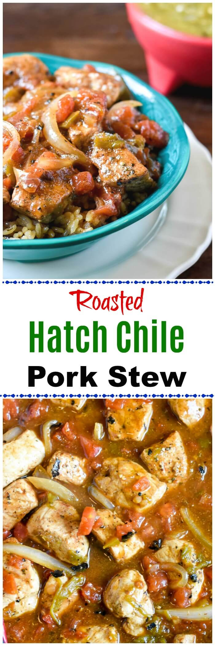 Roasted Hatch Chile Pepper Pork Stew