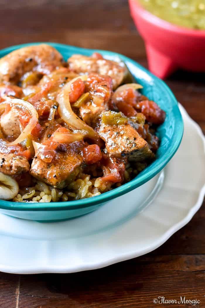 Roasted Hatch Green Chile Pork Stew - Flavor Mosaic