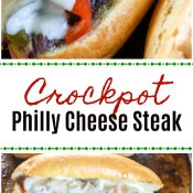 Crockpot Philly Cheese Steak