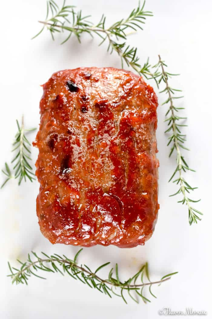 Easy Brown Sugar Glazed Turkey Meatloaf - Flavor Mosaic