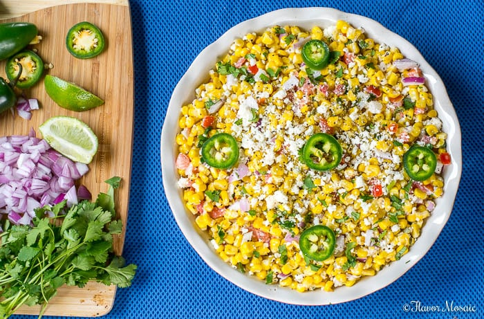 Mexican Street Corn Salad Elote Recipe