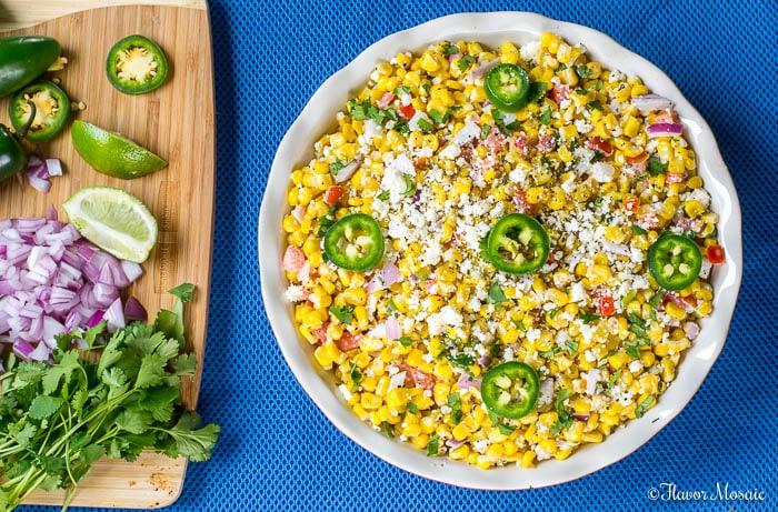 Mexican Street Corn Salad Elote Recipe