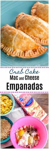 Crab Cake Mac and Cheese Empanadas