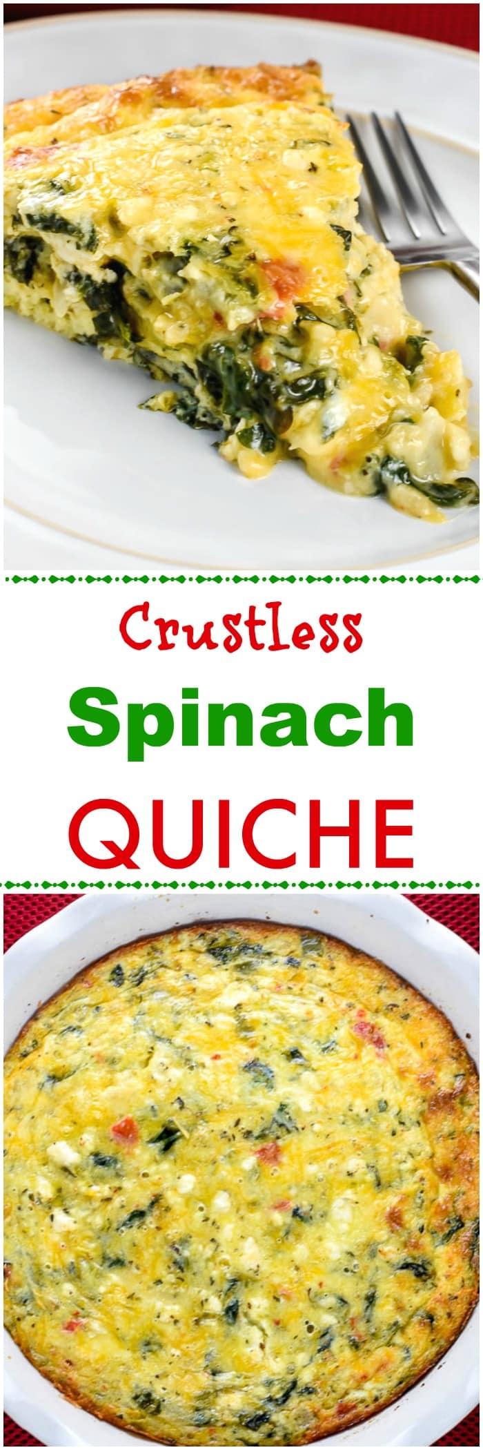 Crustless Spinach Quiche Breakfast