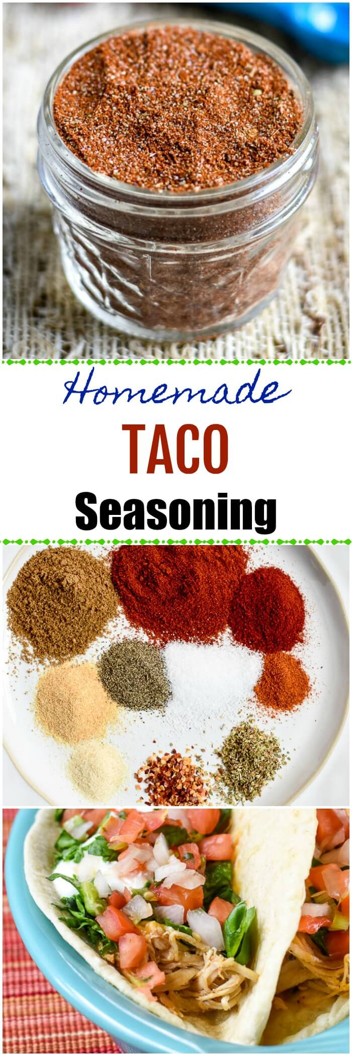Homemade Taco Seasoning Long Pin