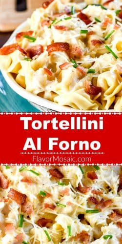 Tortellini al forno long pin red label Flavor Mosaic