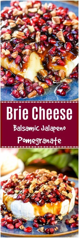 Brie Cheese Recipe with Balsamic Jalapeno Pomegranate