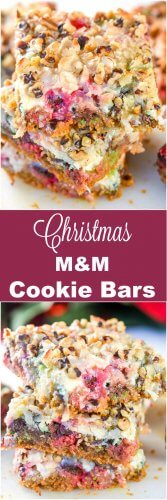 Christmas M&M Cookie Bars Long Pin