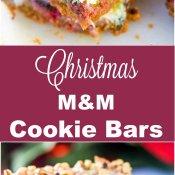 Christmas M&M Cookie Bars Long Pin