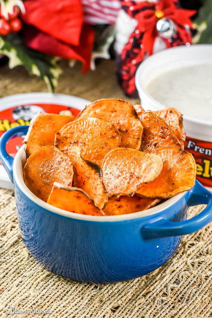 Homemade Baked Sweet Potato Chips {Paleo}