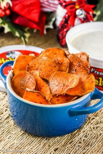 Homemade Baked Sweet Potato Chips {Paleo} Recipe