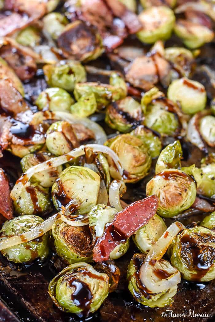 Roasted Brussels Sprouts with Bacon and Balsamic