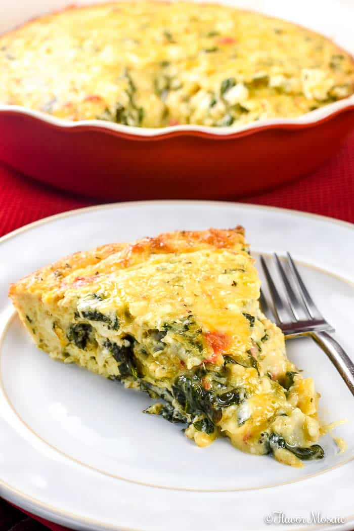 Crustless Spinach Quiche Flavor Mosaic