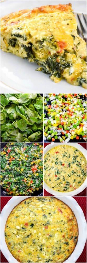 Crustless Spinach Quiche for Breakfast or Brunch
