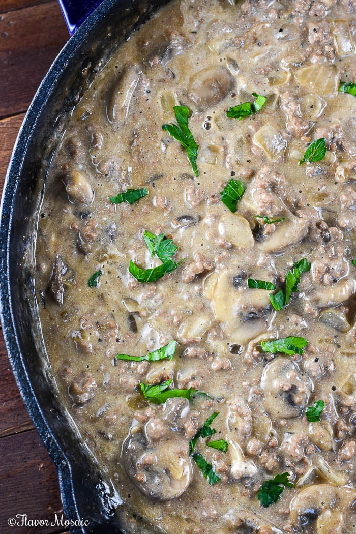 Ground Beef Stroganoff - an easy, budget-friendly, comfort food dinner