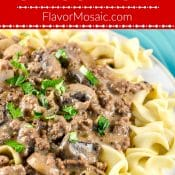 Ground Beef Stroganoff Pin with Red Label Flavor Mosaic