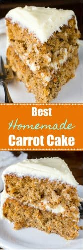 Best Homemade Carrot Cake Recipe Log pin