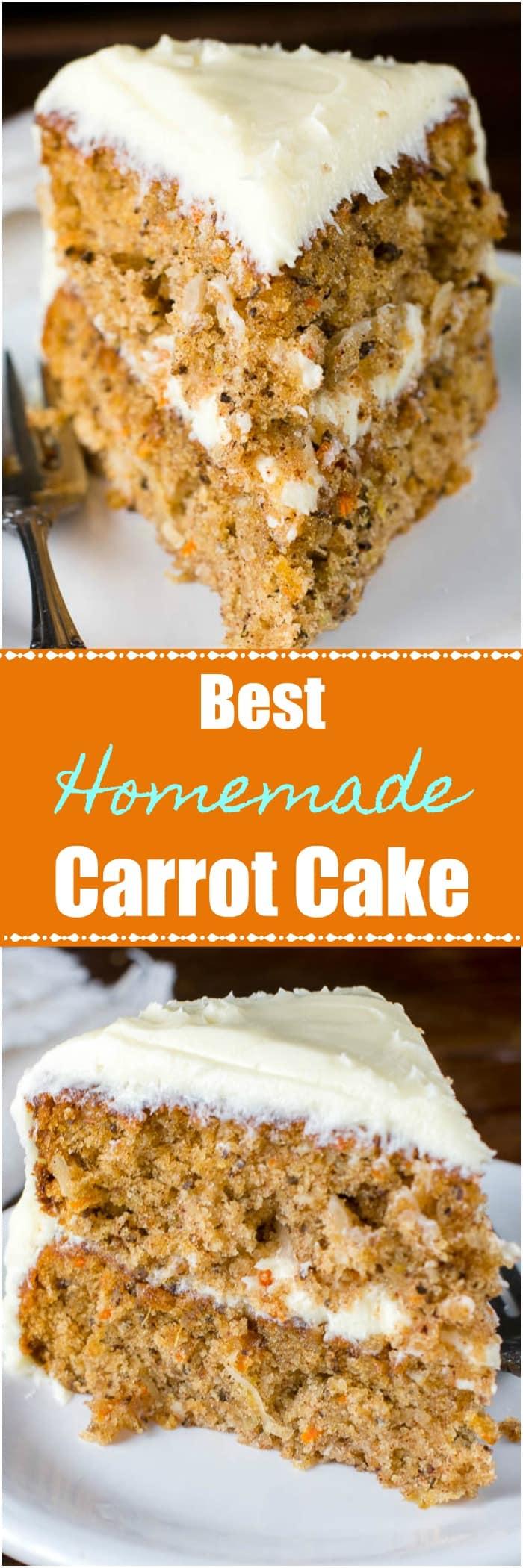 Best Homemade Carrot Cake Recipe Log pin