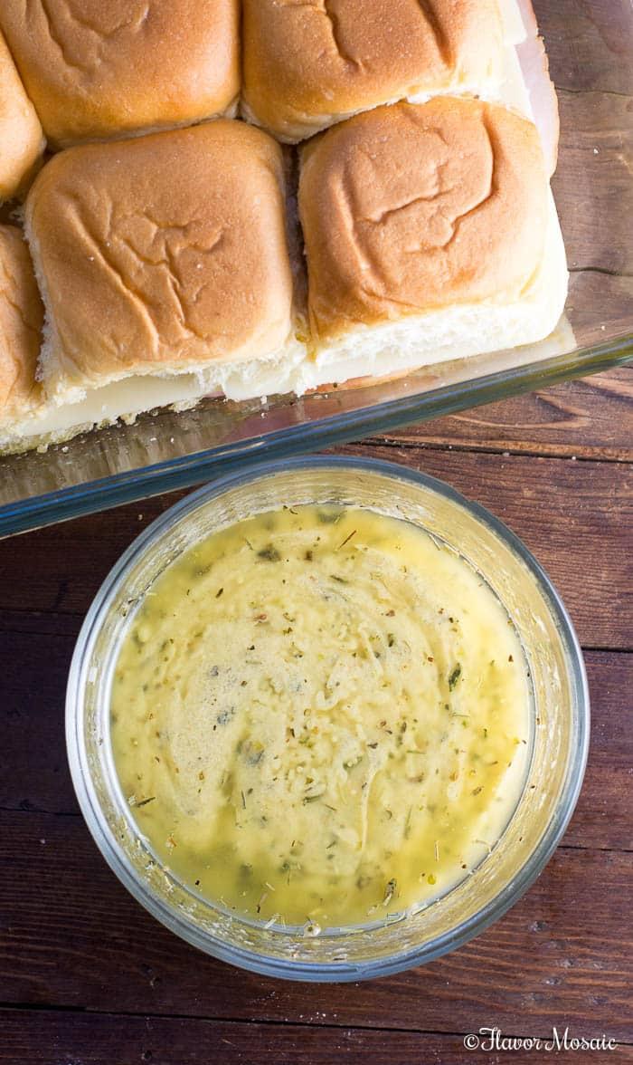 Garlic Dijon Butter Sauce for Chicken Parmesan Sliders or Ham and Cheese Sliders Ham Sliders Hawaiian Sliders Sandwiches