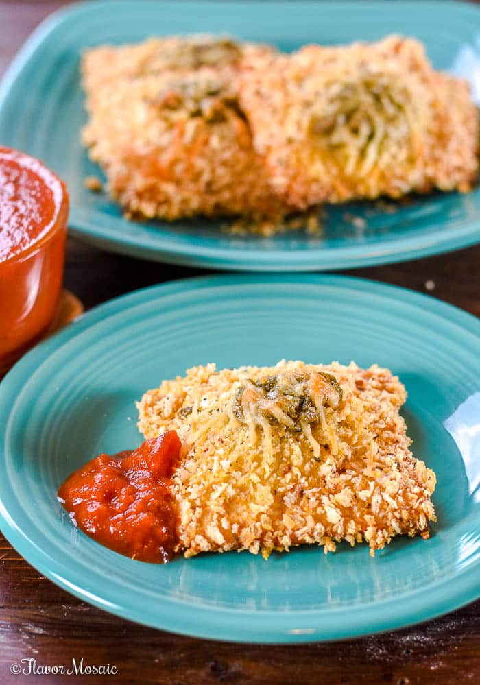 Toasted Spinach Pesto Ravioli