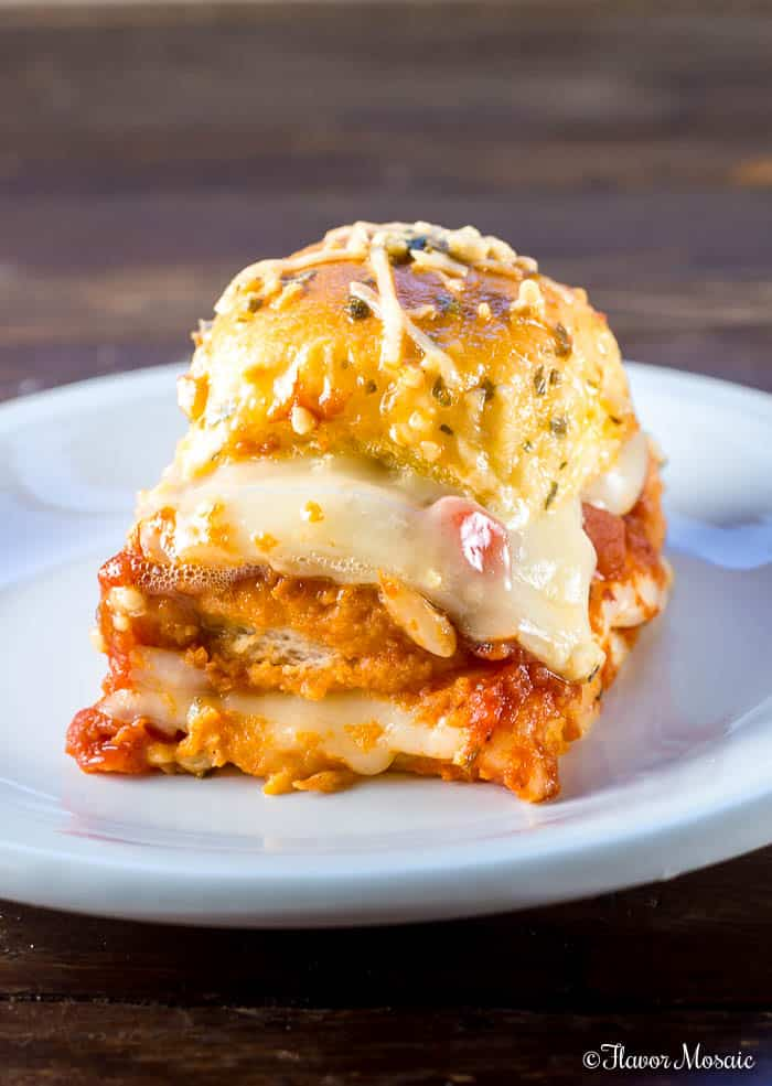 Chicken Parmesan Sliders Hawaiian Sliders