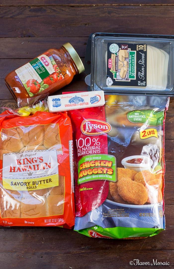 Chicken Parmesan Sliders - photo of ingredients