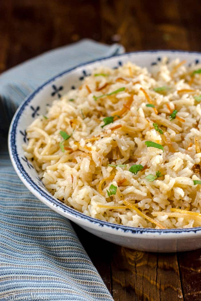 Rice Pilaf with Vermicelli or orzo