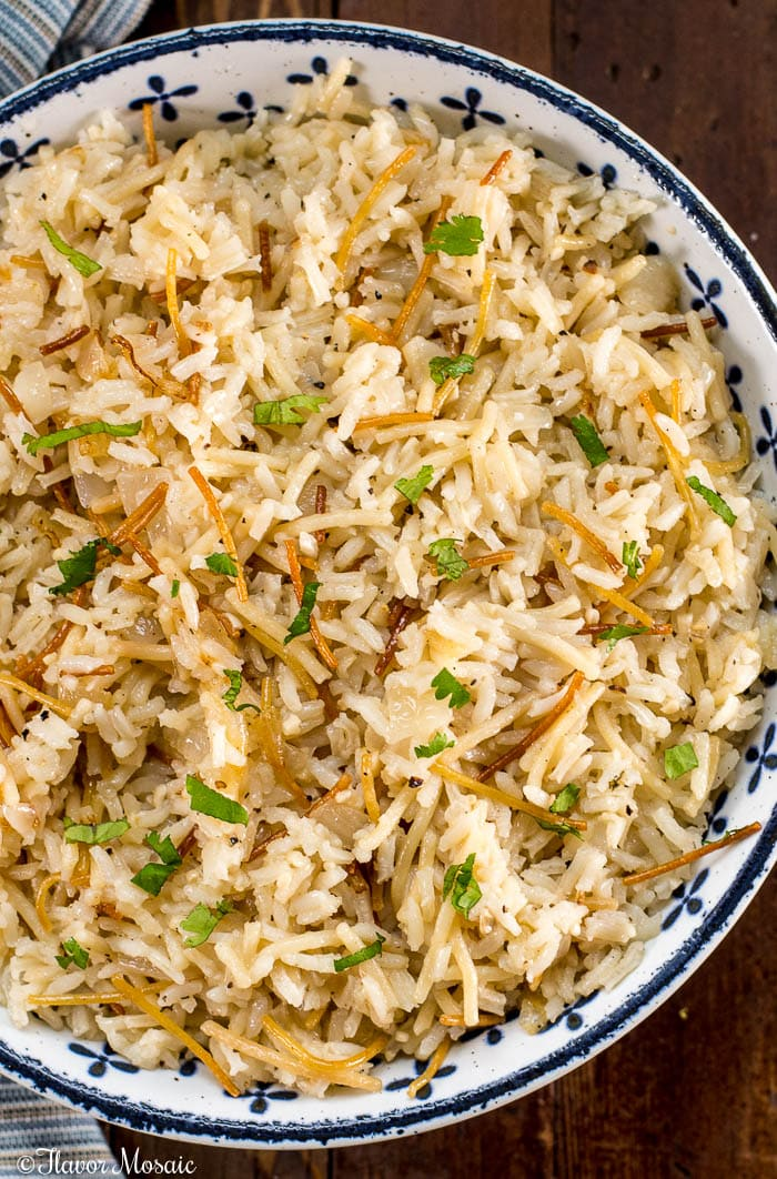Rice Pilaf-with Vermicelli or orzo