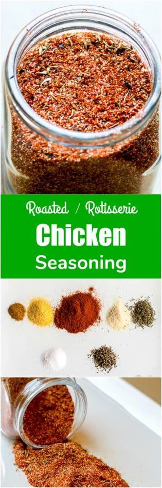 Chicken Seasoning for Roasted or Rotisserie Chicken - Seasoning Spice Mix