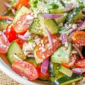 Cucumber Tomato Salad (with a Mexican Twist)