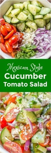 Cucumber Tomato Salad with a Mexican Twist Long Pin
