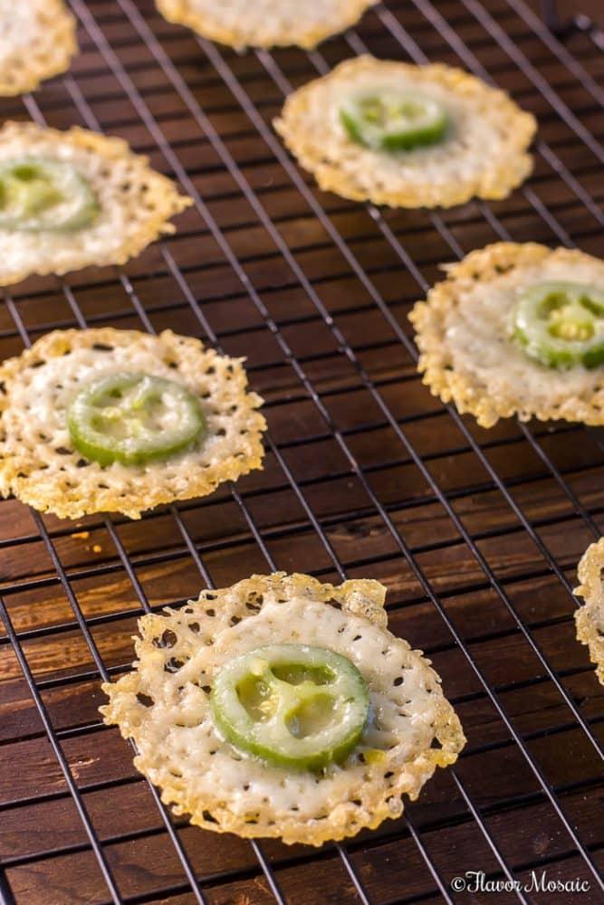 Jalapeno Parmesan Crisps - Keto - Low Carb - Gluten Free