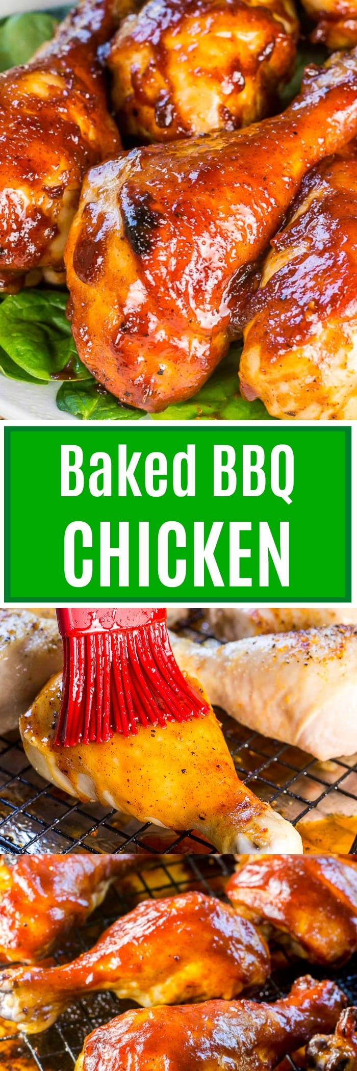 Baked BBQ Chicken Long Pin