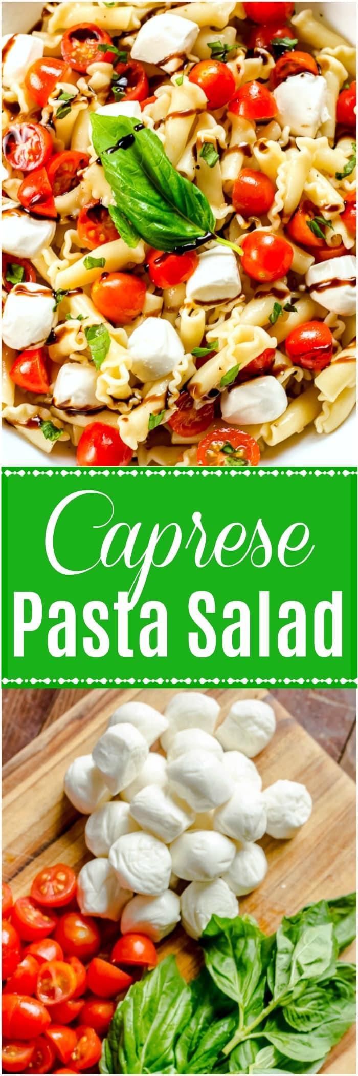 Caprese Pasta Salad - Caprese Salad
