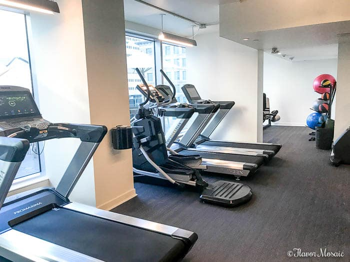 Hotel Alessandra a modern luxury hotel in downtown Houston, Texas. Enjoy a well-equipped exercise room gym.