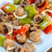 Easy Chicken Sausage and Peppers Sheet Pan Dinner for a quick and easy dinner that is ready in under 30 minutes.